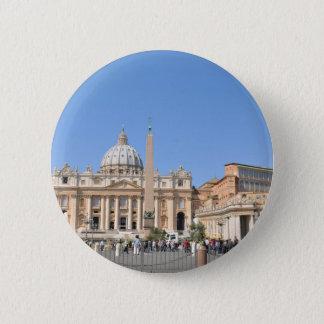 San Pietro square in Vatican, Rome, Italy Pinback Button