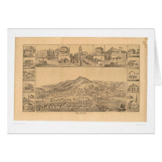 San Rafael, CA. Panoramic Map (1576A) Greeting Card