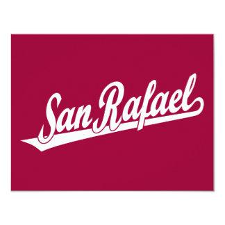 San Rafael script logo in white Card