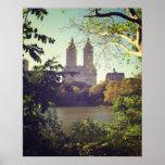 San Remo enmarcó por los árboles, Central Park, to Poster