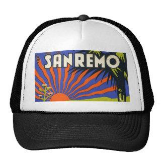 San Remo hotel label hat