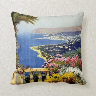 San Remo Italian Mediterranean Travel Poster 1920 Throw Pillow