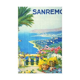 San Remo Italy 1920 Canvas Print