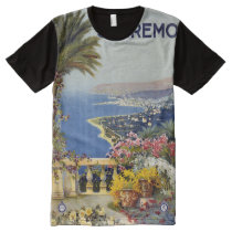San Remo Italy Vintage Travel Poster shirt