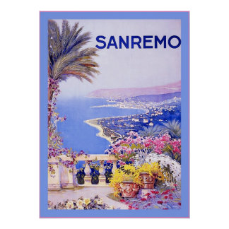 San Remo ~ Vintage Italian Travel Poster
