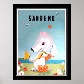 San Remo Vintage Travel Poster