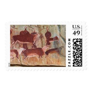 San Rock Art Near Game Pass Shelter, Kamberg Postage Stamps