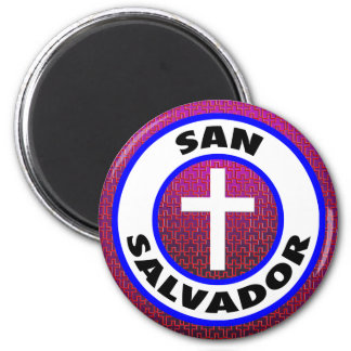 San Salvador 2 Inch Round Magnet
