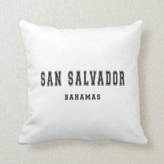 San Salvador Bahamas Throw Pillow