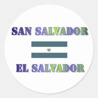 San Salvador Classic Round Sticker