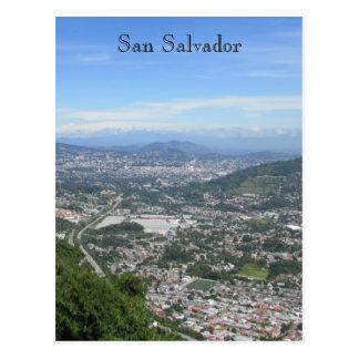 san salvador view postcard