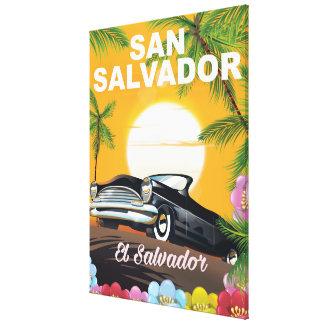 San Salvador Vintage travel poster Canvas Print