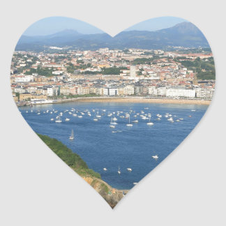 San Sebastian Basque Country Spain scenic view Heart Sticker