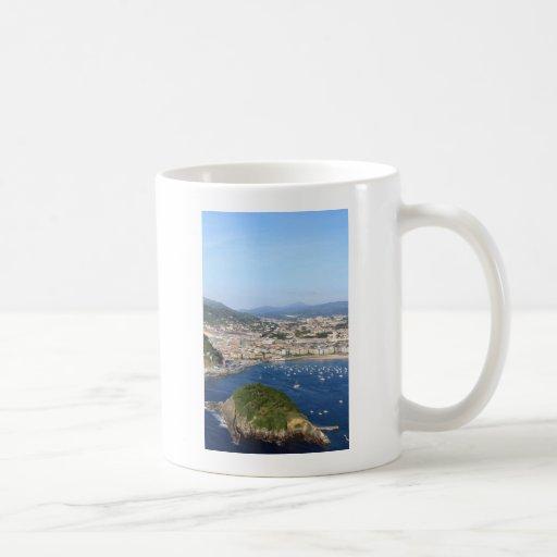 San Sebastian beautiful scenic coastline Mugs