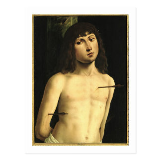 San Sebastián, c.1490s (tempera en el panel) Postal