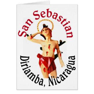 San Sebastian Diriamba Greeting Card