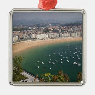 San Sebastián, España. La ciudad vasca de San Adorno Cuadrado Plateado