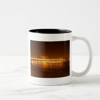 San Sebastian Night Lights Two-Tone Coffee Mug