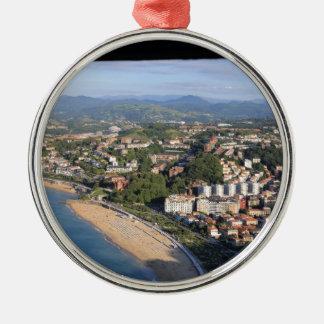 San Sebastian Spain Metal Ornament