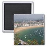 San Sebastian, Spain. The Basque city of San 2 Inch Square Magnet