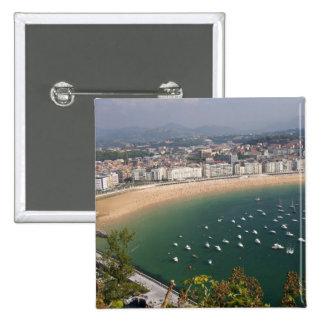 San Sebastian, Spain. The Basque city of San Pinback Button