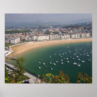 San Sebastian, Spain. The Basque city of San Poster