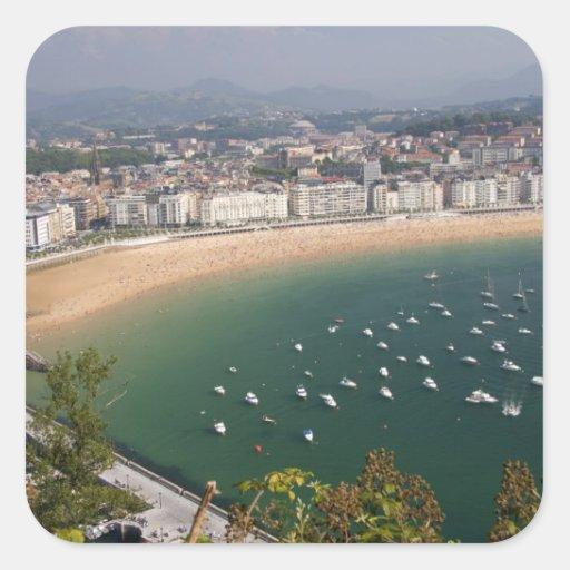 San Sebastian, Spain. The Basque city of San Square Sticker