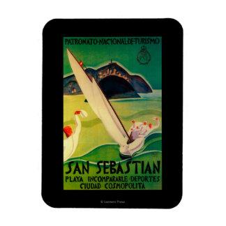 San Sebastian Vintage PosterEurope Rectangular Photo Magnet