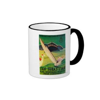 San Sebastian Vintage PosterEurope Ringer Mug