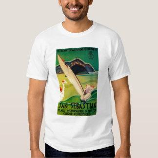 San Sebastian Vintage PosterEurope T Shirt