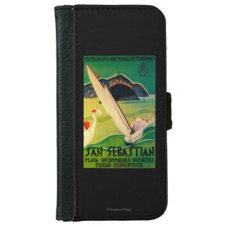 San Sebastian Vintage PosterEurope Wallet Phone Case For iPhone 6/6s