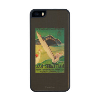 San Sebastian Vintage PosterEurope Wood Phone Case For iPhone SE/5/5s
