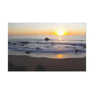 San Simeon Sunset 1 Canvas Print