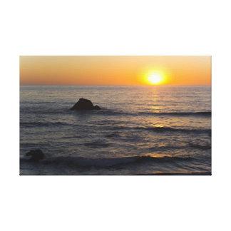 San Simeon Sunset 2 Canvas Print