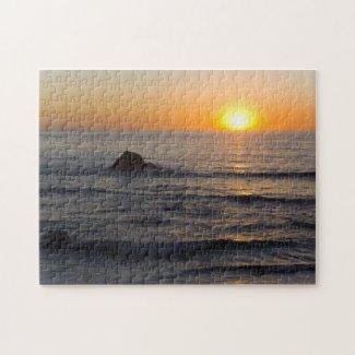 San Simeon Sunset 2 Puzzle