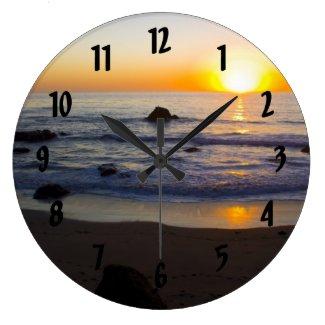 San Simeon Sunset 2 Wall Clock