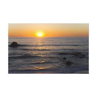 San Simeon Sunset 3 Canvas Print
