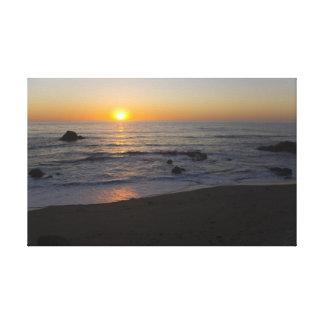 San Simeon Sunset 4 Canvas Print