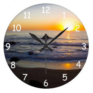 San Simeon Sunset 4 Clocks
