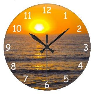 San Simeon Sunset 5 Wall Clocks