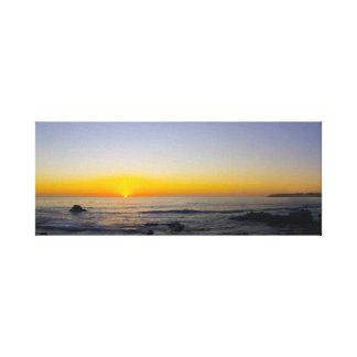 San Simeon Sunset Panorama 1 Canvas Print