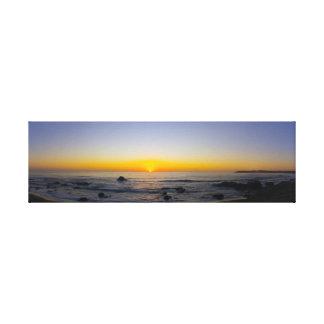 San Simeon Sunset Panorama 2 Canvas Print