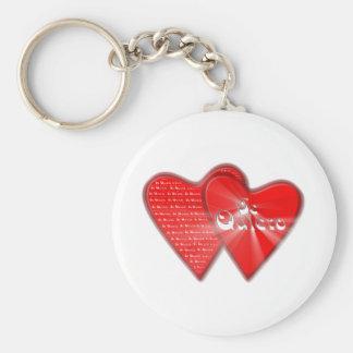 San Valentin es el dia de los enamorados Llavero Redondo Tipo Pin