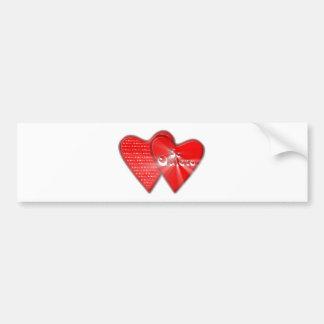San Valentin es el dia de los enamorados Pegatina Para Auto