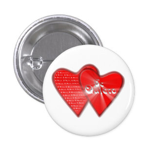San Valentin es el dia de los enamorados Pin Redondo De 1 Pulgada