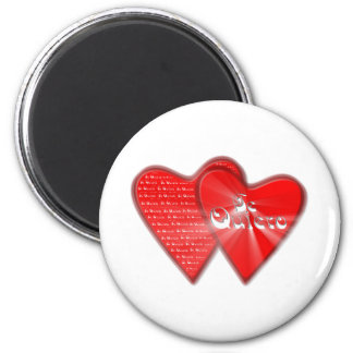 San Valentin is the day of the enamored ones Magnet