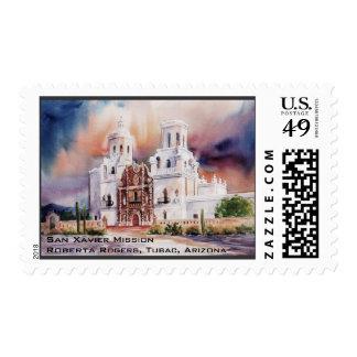 San Xavier Mission USPS postage stamp...