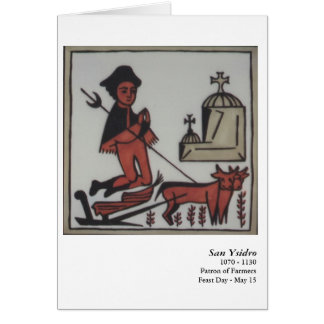 San Ysidro Santo Card