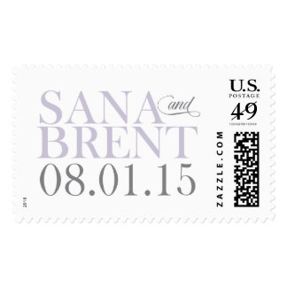 Sana and Brent Monogram Stamp