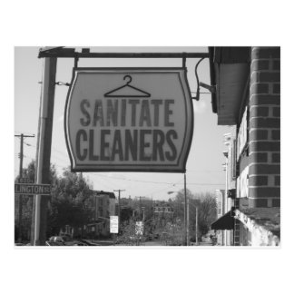 Sanatite Cleaners on Chestnut Ave Postcard